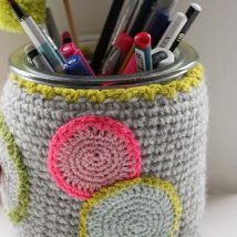 Mason Jar Pencil Holders 27 214x214 - Spectacular Mason Jar Pencil Holders Ideas