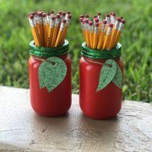 Mason Jar Pencil Holders 28 214x214 - Spectacular Mason Jar Pencil Holders Ideas