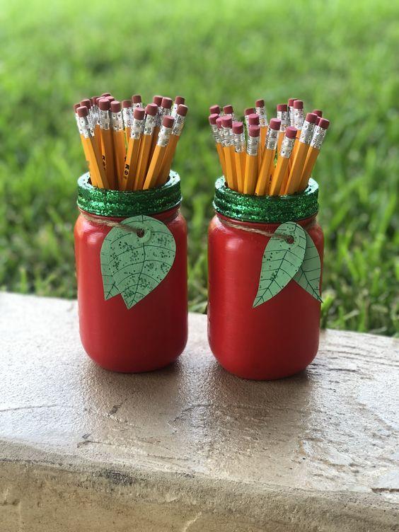 Mason Jar Pencil Holders 28 - Spectacular Mason Jar Pencil Holders Ideas