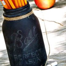 Mason Jar Pencil Holders 29 214x214 - Spectacular Mason Jar Pencil Holders Ideas