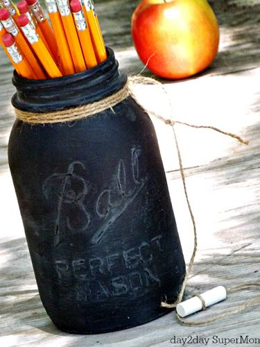 Mason Jar Pencil Holders 29 - Spectacular Mason Jar Pencil Holders Ideas