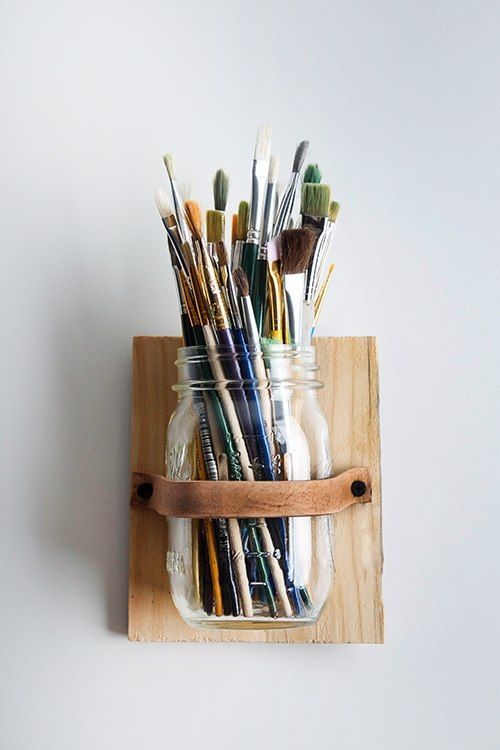 Mason Jar Pencil Holders 3 - Spectacular Mason Jar Pencil Holders Ideas