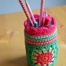 Mason Jar Pencil Holders 31 214x214 - Spectacular Mason Jar Pencil Holders Ideas