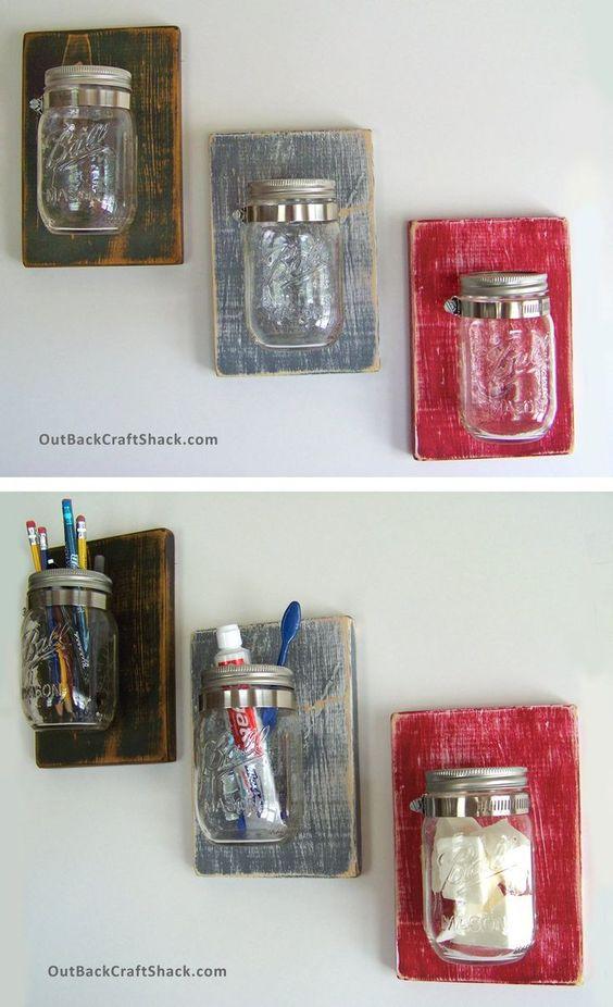 Mason Jar Pencil Holders 32 - Spectacular Mason Jar Pencil Holders Ideas