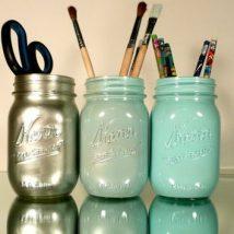 Mason Jar Pencil Holders 34 214x214 - Spectacular Mason Jar Pencil Holders Ideas