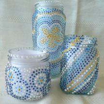 Mason Jar Pencil Holders 36 214x214 - Spectacular Mason Jar Pencil Holders Ideas