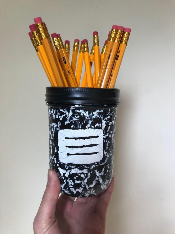 Mason Jar Pencil Holders 37 - Spectacular Mason Jar Pencil Holders Ideas