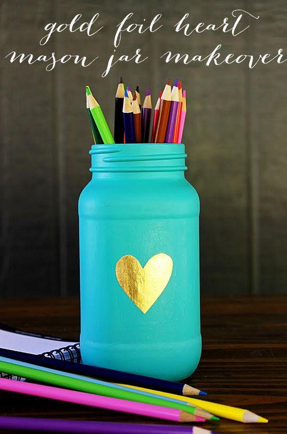 Mason Jar Pencil Holders 40 - Spectacular Mason Jar Pencil Holders Ideas