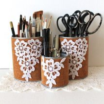 Mason Jar Pencil Holders 42 214x214 - Spectacular Mason Jar Pencil Holders Ideas