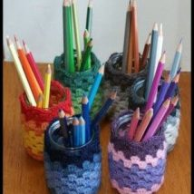 Mason Jar Pencil Holders 6 214x214 - Spectacular Mason Jar Pencil Holders Ideas