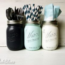 Mason Jar Pencil Holders 7 214x214 - Spectacular Mason Jar Pencil Holders Ideas