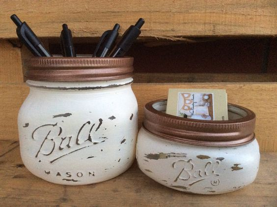 Mason Jar Pencil Holders 8 - Spectacular Mason Jar Pencil Holders Ideas