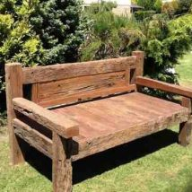Outdoor Bench Projects 13 214x214 - 40+ Extraordinary Outdoor Bench Projects