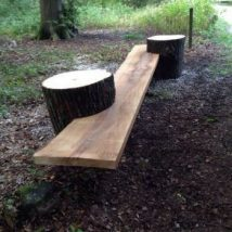 Outdoor Bench Projects 14 214x214 - 40+ Extraordinary Outdoor Bench Projects