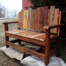 Outdoor Bench Projects 2 214x214 - 40+ Extraordinary Outdoor Bench Projects
