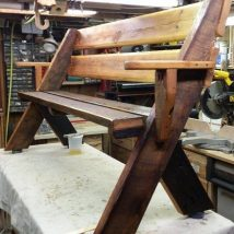 Outdoor Bench Projects 20 214x214 - 40+ Extraordinary Outdoor Bench Projects