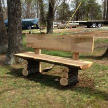Outdoor Bench Projects 21 214x214 - 40+ Extraordinary Outdoor Bench Projects