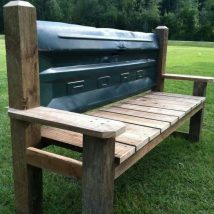 Outdoor Bench Projects 27 214x214 - 40+ Extraordinary Outdoor Bench Projects