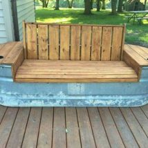 Outdoor Bench Projects 32 214x214 - 40+ Extraordinary Outdoor Bench Projects