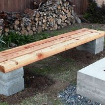 Outdoor Bench Projects 37 214x214 - 40+ Extraordinary Outdoor Bench Projects