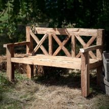 Outdoor Bench Projects 42 214x214 - 40+ Extraordinary Outdoor Bench Projects