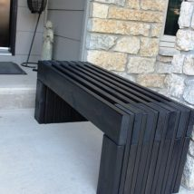 Outdoor Bench Projects 5 214x214 - 40+ Extraordinary Outdoor Bench Projects