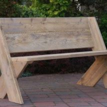 Outdoor Bench Projects 6 214x214 - 40+ Extraordinary Outdoor Bench Projects