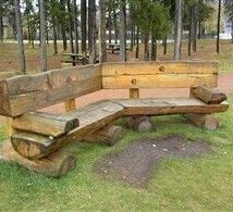 Outdoor Bench Projects 8 214x195 - 40+ Extraordinary Outdoor Bench Projects