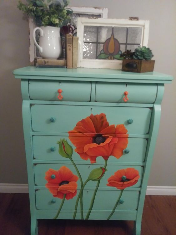 Painted Old Furniture 12 - Phenomenal Painted Old Furniture Ideas
