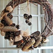 Pine Cone Projects 40 214x214 - 44+ Simple DIY Pine Cone Projects Ideas