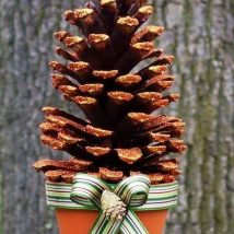 Pine Cone Projects 5 214x214 - 44+ Simple DIY Pine Cone Projects Ideas